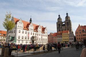 Рыночная площадь с ратушей и городской церковью