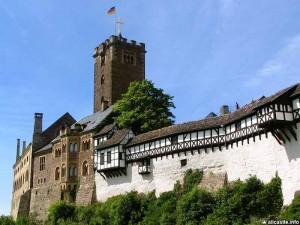 Тюрингия. Замок Вартбург. Средневековая история